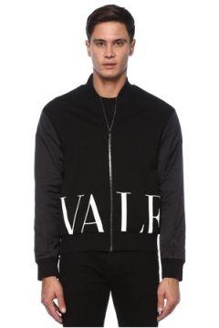 Valentino Erkek VLTN Siyah Lacivert Dik Yaka Bomber Mont S EU(120885329)