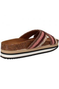 Claquettes 5 Pro Ject sandales marron textile rose AC587(115393614)
