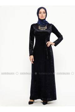 Navy Blue - Crew neck - Unlined - Dresses - MEKSİLA(110314186)