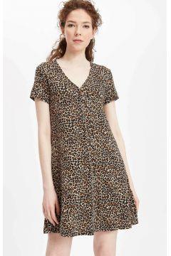 DeFacto Kadın Leopar Desenli Elbise(108640796)