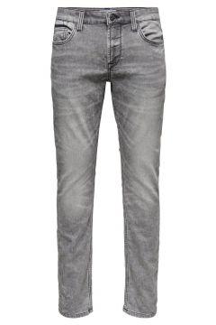 ONLY & SONS Onsloom Blixtlåsförsedda Grå Slim Fit-jeans Man Grå(110863798)