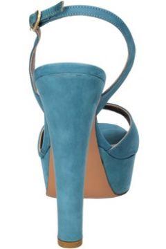 Sandales Olimpia sandales bleu cuir suédé AG591(88469561)