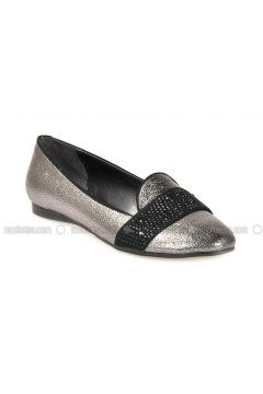 Silver Tone - Flat - Flat Shoes - Vizon(110330298)