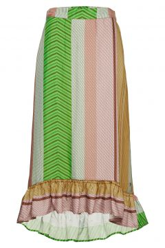 Skirt In Stroke Print Knielanges Kleid Bunt/gemustert COSTER COPENHAGEN(114163346)