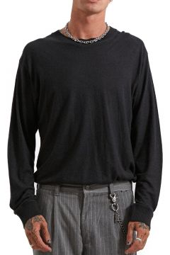 Afends Living Hemp Retro Fit Langarm-T-Shirt - Black(114064985)