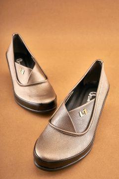 Bambi Platın Kadın Klasik Ayakkabı(122711299)