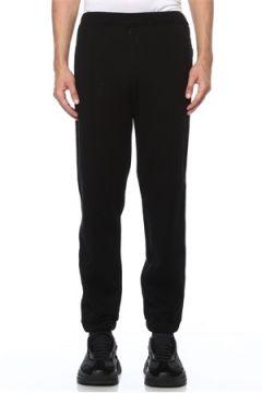 Fendi Erkek Siyah Yanları Logo Şeritli Jogger Eşofman 48 IT(118643020)