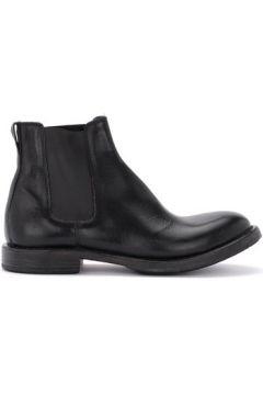 Boots Moma Botte Cusna en cuir noir avec inserts élastiques(127987576)