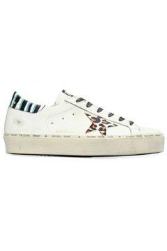 Golden Goose Kadın Hi Star Beyaz Leopar Logolu Deri Sneaker 39 EU(107373572)