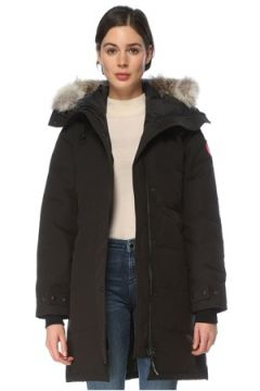 Canada Goose Kadın Shelburne Siyah Kapüşonlu Parka S EU(126218080)