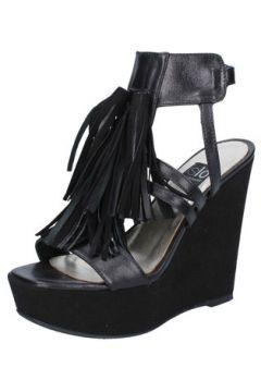 Sandales Islo sandales noir cuir BZ519(88470302)