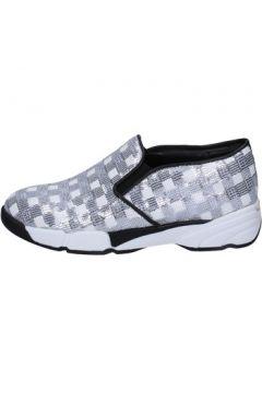 Chaussures Pin Ko PINKO slip on blanc paillettes argent BT251(115442763)