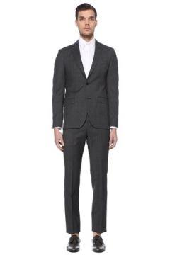 Beymen Club Erkek Drop 6 Antrasit Kelebek Yaka Kareli Takım Elbise Gri 48(114439436)