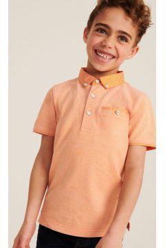 Printed Collar Polo Top(116402575)