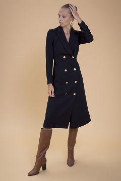 Selma Çilek Uzun Siyah Elbise(122401685)