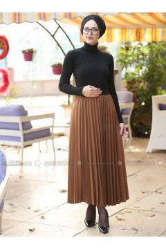 Tan - Unlined - Skirt - İnşirah(110328136)