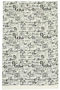 Dolce&Gabbana Erkek Beyaz Logo Baskılı Atkı EU(121159769)