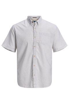 JACK & JONES Bio Baumwoll Plus Size Kurzarmhemd Herren White(115269402)