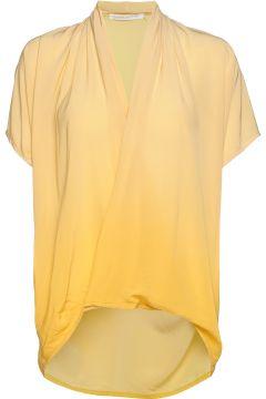 Javana Blouses Short-sleeved Gelb RABENS SAL R(117936697)