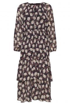 Laurene Flower Kleid Knielang Bunt/gemustert LINE OF OSLO(114163902)