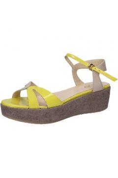 Sandales Liu Jo sandales jaune cuir verni beige cuir AH769(115400533)