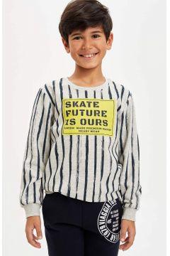 DeFacto Erkek Çocuk Baskılı Sweatshirt(125918887)