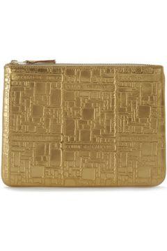 Pochette Comme Des Garcons Pochette Wallet Comme des Garçons en cuir or imprimée(115435540)