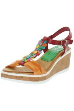 Sandales Marila Talons compensés en cuir ref_neox43582-rouge(128013187)