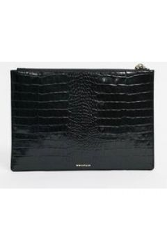 Whistles - Rivington - Pochette coccodrillo in rilievo nera-Nero(122791168)