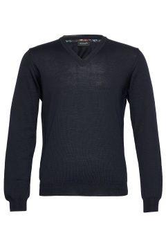 Merino Embroidery - Iv Strickpullover V-Ausschnitt Blau SAND(120893141)