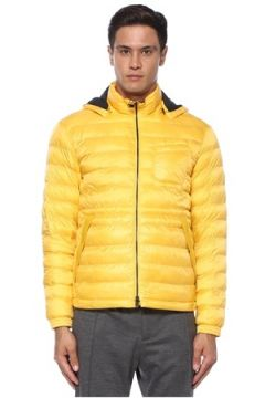 Z Zegna Erkek Sarı Kapüşonlu Puff Mont XL EU(120498142)