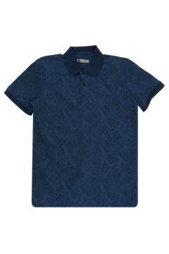 Lee Cooper Caesar Indigo Polo Yaka T-Shirt(116992298)