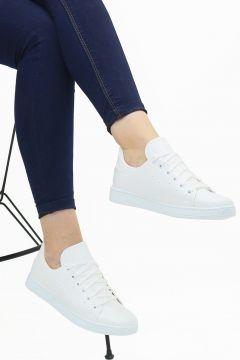 Ayax Beyaz Kadın Sneaker Beyaz 36 Beden(116843204)