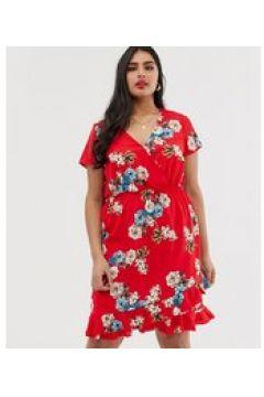 Koko - Vestito a portafoglio a fiori-Multicolore(123214227)