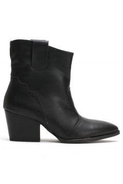 Ayakkabı Modası Siyah Cilt Kadın Bot(110929319)