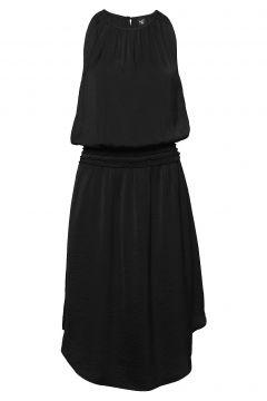 Carson Dress Recycled Kleid Knielang Schwarz NÜ DENMARK(114164523)