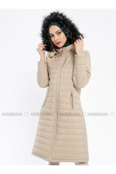 Cream - Fully Lined - Polo neck - Puffer Jackets - EFE FERACE(110337664)