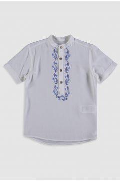Çocuk Erkek Çocuk İşlemeli Viskon Gömlek(126665995)