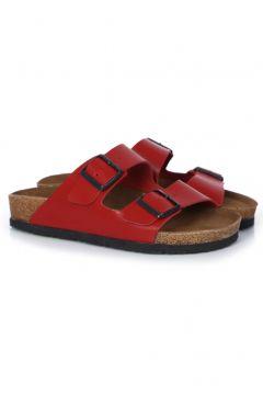 sothe shoes Bs-1101 Hakiki Deri Kırmızı Kadın - Erkek Bantlı Terlik(110959057)