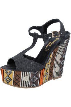Sandales Geneve Shoes sandales noir textile BZ891(88515253)