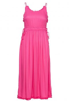 Viscose Summer Midi Dress With Straps Kleid Knielang Pink SCOTCH & SODA(114165081)