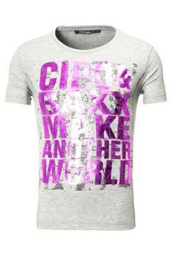 T-shirt Cipo And Baxx Tee shirt fashion homme T-shirt 101 gris imprimé(115397884)