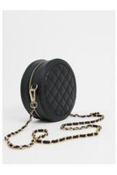 Truffle - Borsa nera rotonda con tracolla a catena-Nero(124110683)