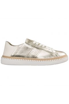 Women's shoes leather trainers sneakers h327(77309831)