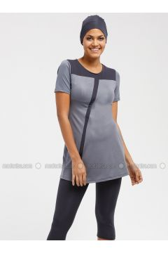 Gray - Unlined - Half Covered Switsuits - Sunmore(110333207)