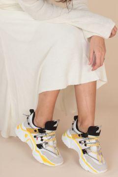 İnan Ayakkabı Bayan Bağcık Detaylı Sneaker(117469462)