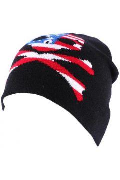 Bonnet Divers Bonnet Biker Noir avec tête de mort façon US(98753548)