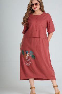 Платье Andrea Style 00254 кирпичный(115244547)