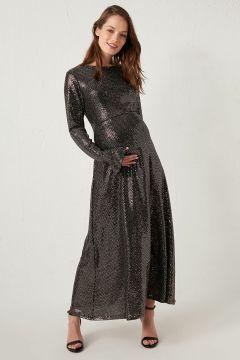 Kadın Hamile Pul Payetli Uzun Elbise(127690768)