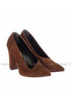 Tan - High Heel - Shoes - Pembe Potin(110313754)